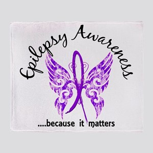 Epilepsy Butterfly 6.1 Throw Blanket