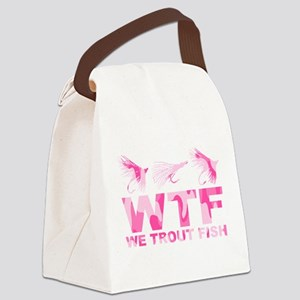 WE TROUT FISH Canvas Lunch Bag