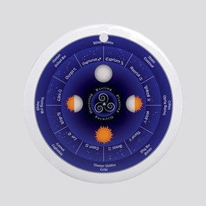 Zodiac Wheel of the Year Ornament (Round)