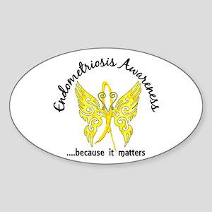 Endometriosis Butterfly 6.1 Sticker (Oval)