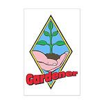 Gardener Mini Poster Print