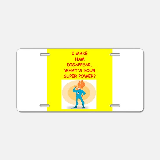 ham Aluminum License Plate