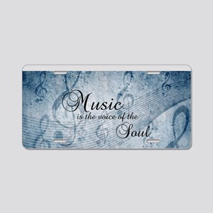 Music voice of the soul Aluminum License Plate