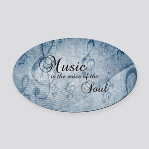 Music voice of the soul Oval Car Magnet