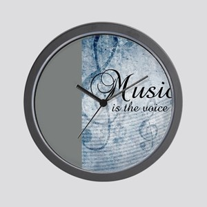 Music voice of the soul Wall Clock