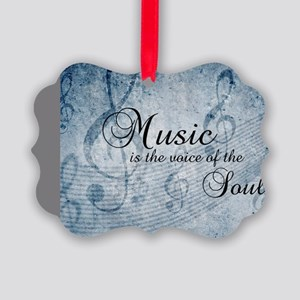Music voice of the soul Picture Ornament