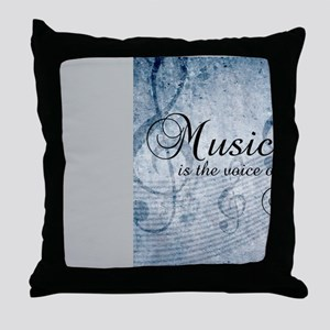 Music voice of the soul Throw Pillow