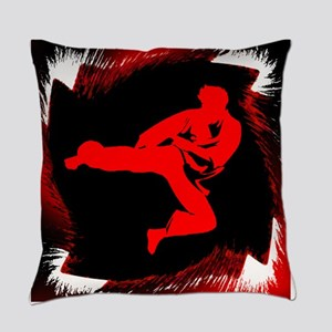 Karate Man Everyday Pillow