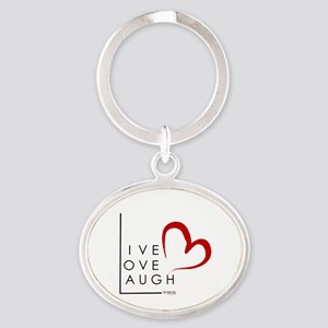 Live.Love.Laugh by KP Oval Keychain