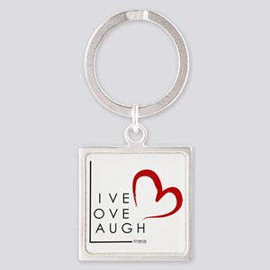 Live.Love.Laugh by KP Square Keychain
