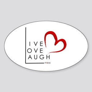Live.Love.Laugh by KP Sticker (Oval)