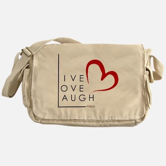 Live.Love.Laugh by KP Messenger Bag