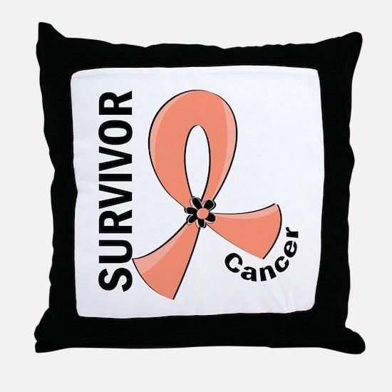 Endometrial Cancer Survivor 12 Throw Pillow