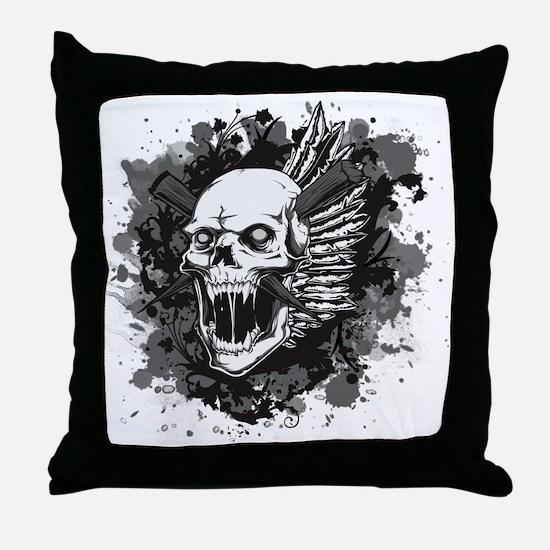 Skull VI Throw Pillow