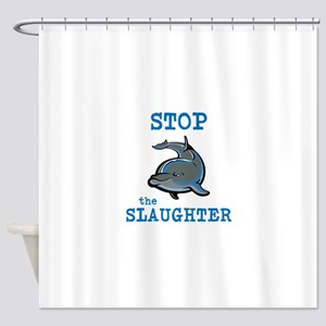 Dolphin Slaughter Shower Curtain
