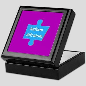 Practive Autism Altruism Blue Purple Keepsake Box