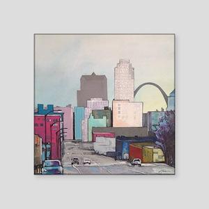 """St. Louis Cityscape Square Sticker 3"""" x 3"""""""