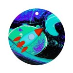Rocket Ship Outer Space Ornament (Round)
