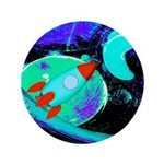 Rocket Ship Outer Space Button