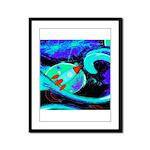 Rocket Ship Outer Space Framed Panel Print