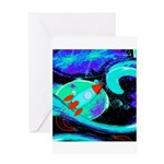 Rocket Ship Outer Space Greeting Cards