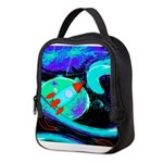Rocket Ship Outer Space Neoprene Lunch Bag