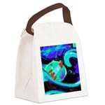 Rocket Ship Outer Space Canvas Lunch Bag