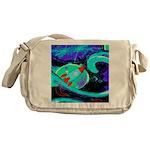 Rocket Ship Outer Space Messenger Bag