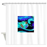 Rocket Ship Outer Space Shower Curtain