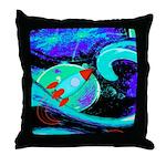 Rocket Ship Outer Space Throw Pillow