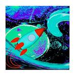 Rocket Ship Outer Space Tile Coaster