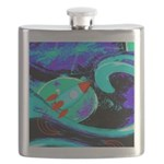 Rocket Ship Outer Space Flask