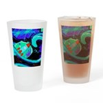 Rocket Ship Outer Space Drinking Glass