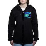 Rocket Ship Outer Space Women's Zip Hoodie