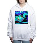 Rocket Ship Outer Space Women's Hooded Sweatshirt
