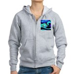 Rocket Ship Outer Space Zip Hoodie