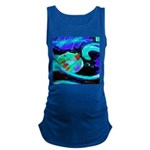 Rocket Ship Outer Space Maternity Tank Top