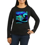 Rocket Ship Outer Space Long Sleeve T-Shirt