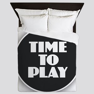 Time to Play - White Queen Duvet