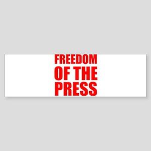Freedom of the Press Bumper Sticker