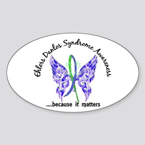 EDS Butterfly 6.1 Sticker (Oval)