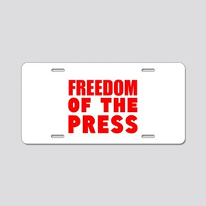 Freedom of the Press Aluminum License Plate
