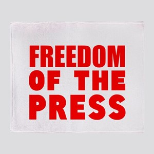 Freedom of the Press Throw Blanket