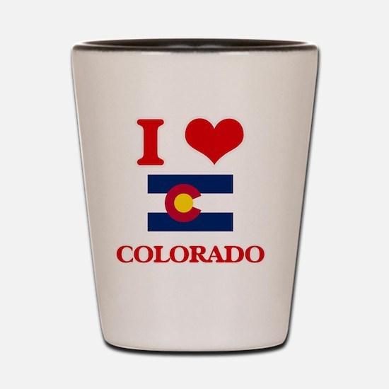 I Love Colorado Shot Glass