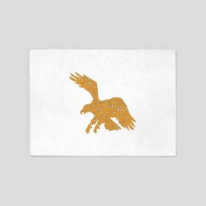 Distressed Brown Eagle 5'x7'Area Rug