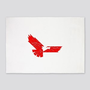 Distressed Red Eagle 5'x7'Area Rug