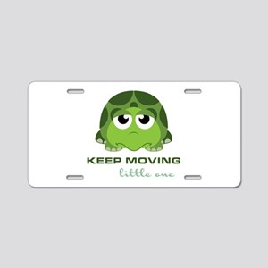 Keep Moving Aluminum License Plate