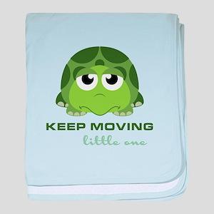 Keep Moving baby blanket