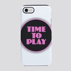 Time to Play - Pink iPhone 7 Tough Case