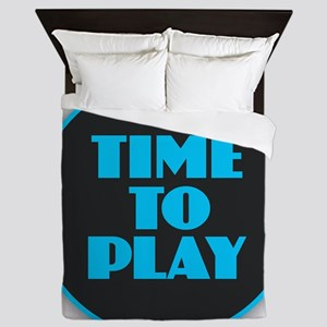 Time to Play - Blue Queen Duvet